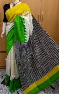 Handloom pure bishnupuri silk sarees