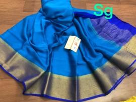 Mysore silk wrinkle crepe sarees