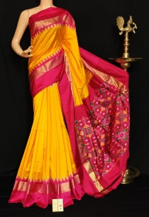 Pochampally ikkat plain sarees with special border
