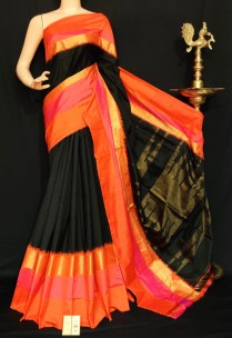 Pochampally ikkat plain sarees with special border
