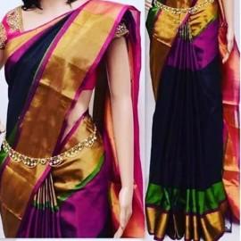 Black with dark pink uppada special border sarees