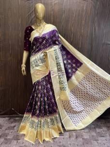 Double weaving pochampally ikkat silk sarees