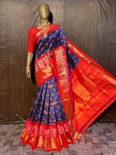 Special design pochampally ikkat silk sarees