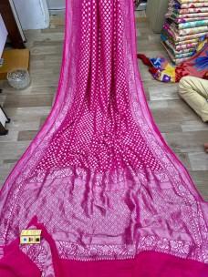 Handloom pure banarasi chiffon Georgette sarees