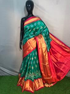 Pochampally double ikat silk sarees