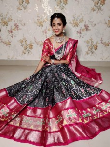 Latest pochampally double ikat silk sarees