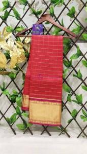 Kanchi organza silk checks sarees