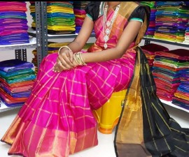 Uppada checks sarees with jari border