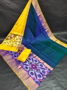 Uppada sarees with big pochampally border