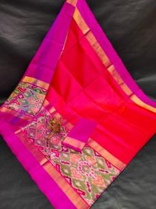 Uppada silk sarees with big pochampally border