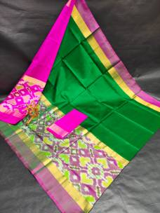 Uppada silk sarees with big pochampally border