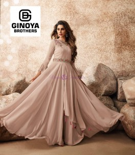 Heavy Faux Georgette long gowns