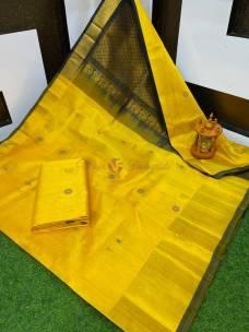 Kuppadam sarees with peacock butta
