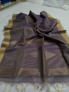 Pure tussar color tissue silk sarees