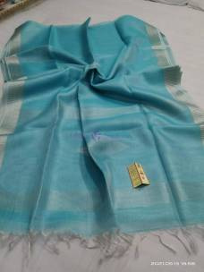 Pure handloom tussar  tissue silk sarees