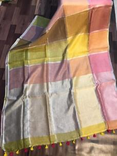 Pure linen by linen 120 counts sarees