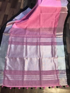 Pure linen by linen 120 counts sarees