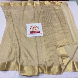 Heavy quality brocade pure crepe sarees