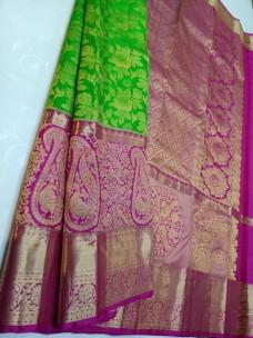 Pure handloom kanchipuram wedding silk sarees