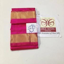 Pure handloom silk dhoti with angavastram