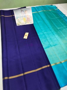 Double warp pure kanchipuram plain silk sarees