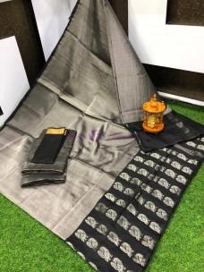 Uppada tissue sarees with border butti work