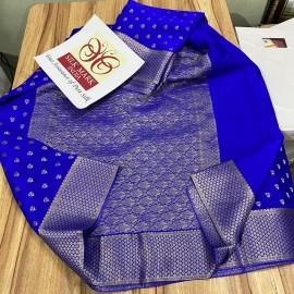 Pure crepe brocade silk sarees