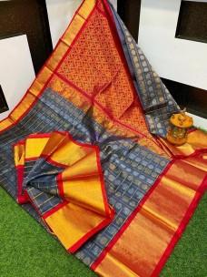 Kuppadam sarees with mothi checks