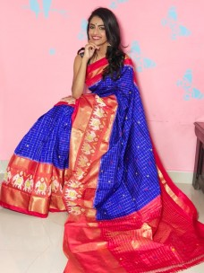 Pochampally double ikkat silk sarees