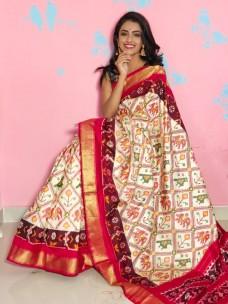 Pochampally double ikkat silk sarees