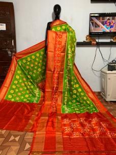 Pure pochampally ikkat silk sarees