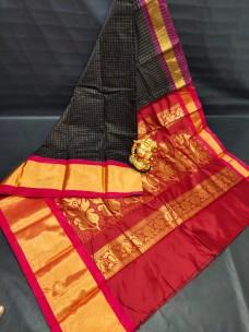 Pure chanderi jil checks silk cotton sarees