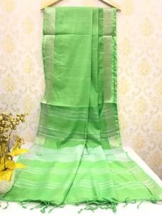 Light green slub linen