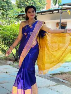 Uppada big border sarees with butti work