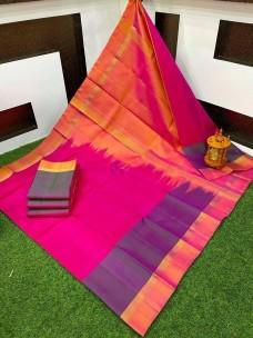 Uppada plain sarees with small border