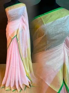 100 counts linen by linen sarees