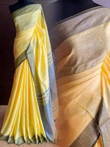 100 counts linen by linen sarees