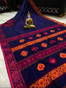 Mercerised by khadi handwoven jamdhani sarees