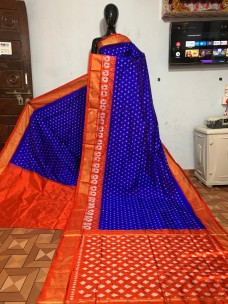 Pure Ikkat silk sarees with double weaving