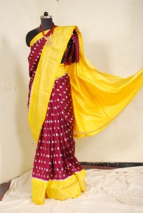 Pure Ikkat sarees with double weaving
