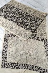 Black and white chenoori silk sarees