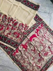 Pen kalamkari chenoori silk sarees