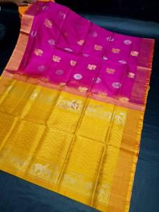 Uppada pattu with rich pallu