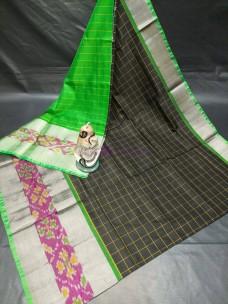 Uppada silk checks sarees with pochampally border