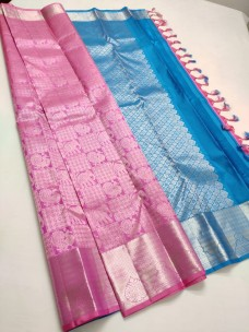 Pure kanchipuram traditional silk sarees