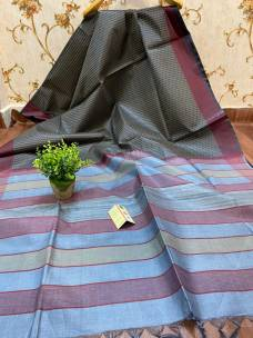 Pure tussar silk all over weaving design sarees