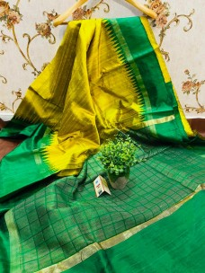 Pure raw silk sarees