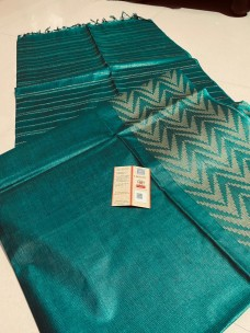 Pure Tussar silk sarees with weaving borders
