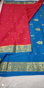 Pure mysore silk sarees with butta work
