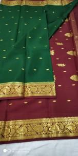 Pure mysore silk sarees with butta work